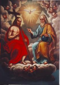 restaurovaný obraz Svatá trojice